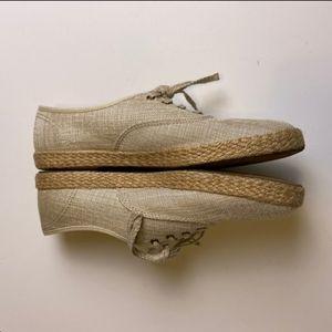 Spadrille sneaker- Champion Metallic Linen Jute